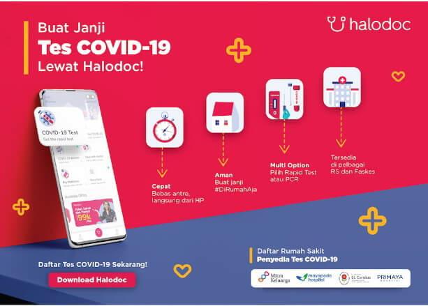 Rapid Test Jakarta via Halodoc Hilangkan Cemas Seketika