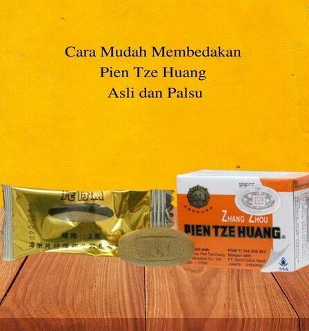 Cara Mudah Membedakan Pien Tze Huang Asli dan Palsu