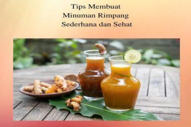 Tips Membuat Minuman Rimpang Sederhana dan Sehat