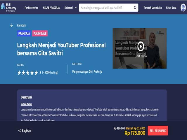 Belajar Menjadi YouTuber di Skill Academy